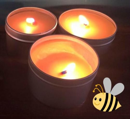 Beeswax Candle in Tin 100ml
